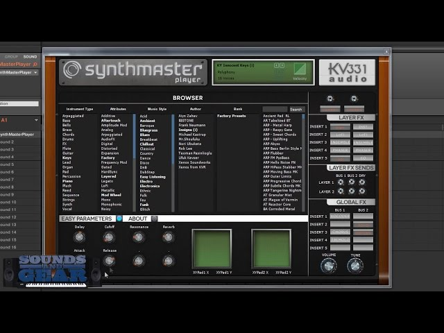 Demo: SynthMaster Player from kv331 Audio - SoundsAndGear.com