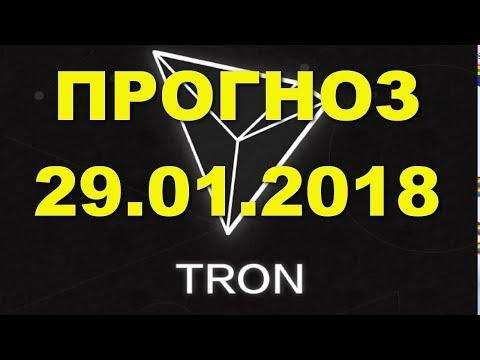 TRX/USD — TRON прогноз цены / график цены на 29.01.2018 / 29 января 2018 года