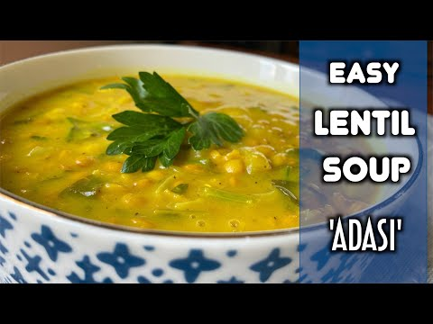Easy and Delicious Lentil Soup | Persian Adasi | عدسی