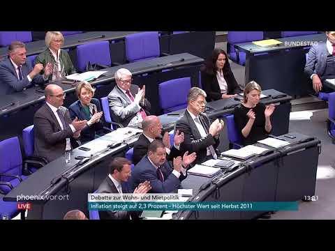 Bundestagsdebatte über das Sofortprogramm Wohnoffensive, Mietpreisstopp am 12.10.18