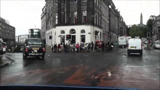 Driving along Edinburgh, Scotland