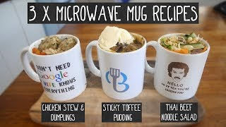 3 x Microwave Mug Recipes by  My Virgin Kitchen