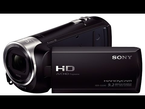 Sony HDR - CX240 Rec and Zoom Test 1080p HD