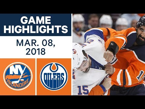 Video: NHL Game Highlights | Islanders vs. Oilers - Mar. 08, 2018