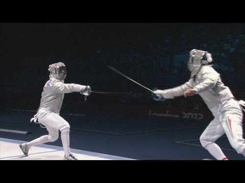 fencing - Fencing Men's Sabre Bronze Medal Bout - Hungary v Italy Full Replay from the ExCeL at the London 2012 Olympic Games. -- 29 July 2012 Aron Szilagyi wins the G...