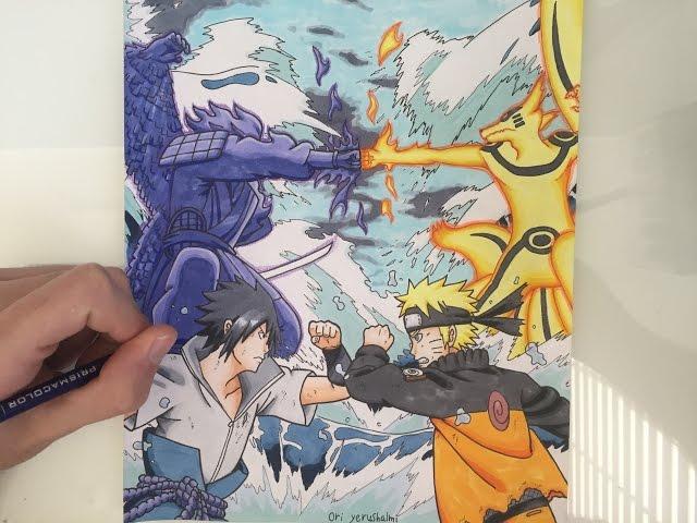 Drawing-naruto-vs-sasuke-final