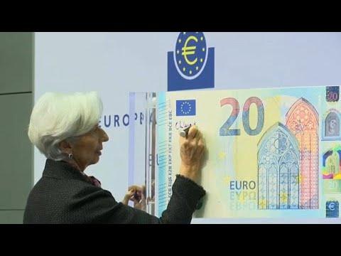 Premiere: Neuer 20-Euro-Schein mit Lagards Unterschri ...