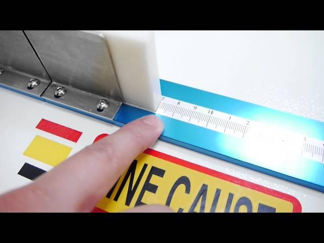 刮膠裁切台 - 操作示範