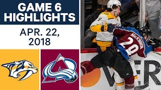 NHL Highlights   Predators vs. Avalanche, Game 6 - Apr. 22, 2018 by Sportsnet Canada