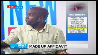 News Sources: Mwangi Kiunjuri's affidavit, 20/10/2016