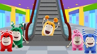 Oddbods in Electronic Escalator Stairs - Oddbods Funny Pranks Full Compilation