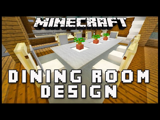 Minecraft how to make dining room furniture modern house for Modern house music