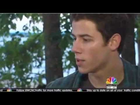 Nick Jonas talks about his new movie on set