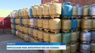 Marília: dificuldade para encontrar gás de cozinha
