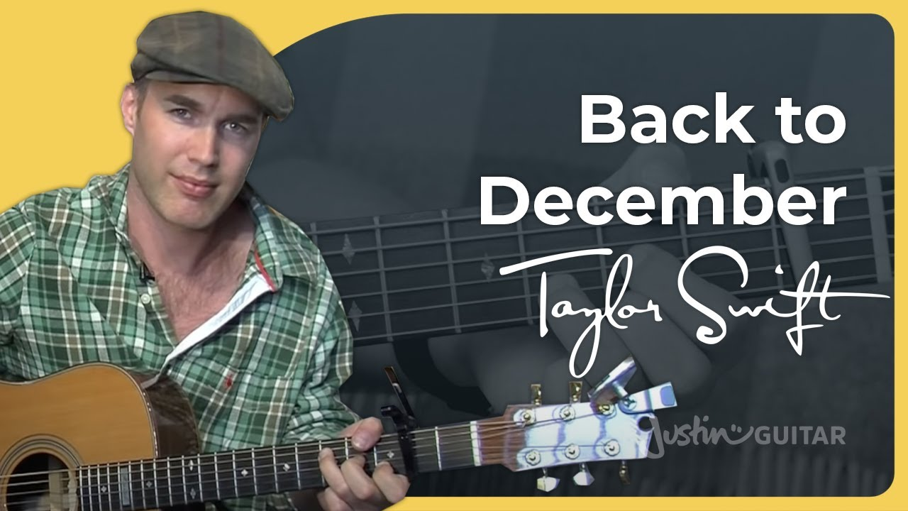 Back To December – Taylor Swift (Easy Songs Beginner Guitar Lesson BS-406) How to play