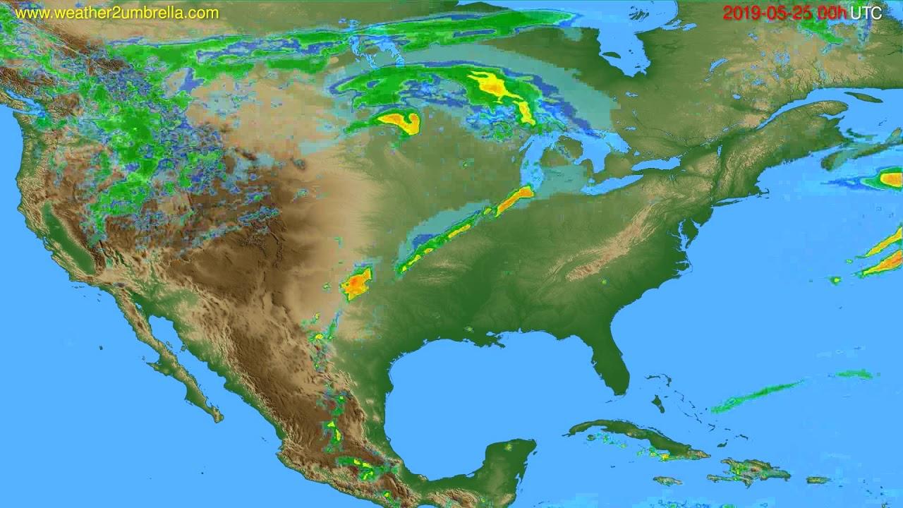 Radar forecast USA & Canada // modelrun: 12h UTC 2019-05-24