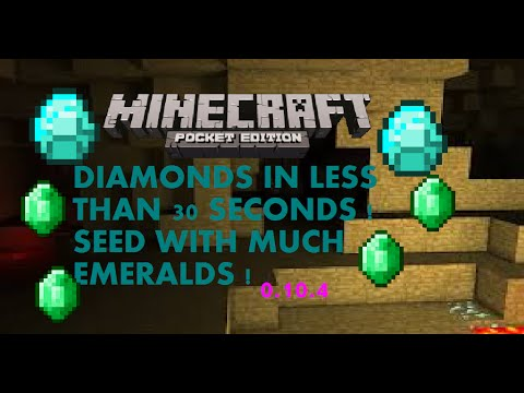 [MCPE 1.0.0] BEST DIAMOND AND EMERALD SEED !( FIND DIAMONDS IN LESS THAN 30 SECONDS) | MINECRAFT PE