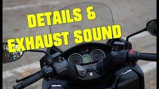 9. 2017 Suzuki Burgman 400 -  details and exhaust sound