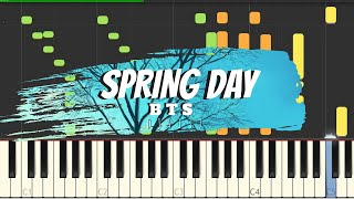 Video BTS - Spring Day Piano Cover [Sheets] MP3, 3GP, MP4, WEBM, AVI, FLV April 2018