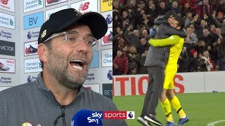 Jurgen Klopp apologises for his celebration and reacts to bizarre late winner! | Liverpool v Everton