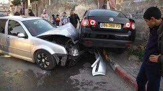 حادث مروري قرب مدرسة الخالدية بطولكرم نتج عنه ثلاث إصابات