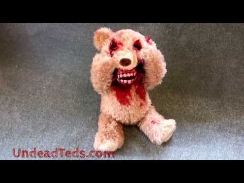 Animatronic faceripping Undead Ted horrortoy