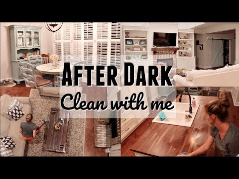 AFTER DARK CLEAN WITH ME // EXTREME CLEANING MOTIVATION // CLEANING MY MESSY KITCHEN