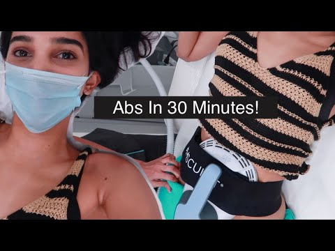 GET ABS IN 30 MINUTES! Emsculpt review & results.
