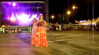 dancing at the annual party of Kourou in French Guyana.