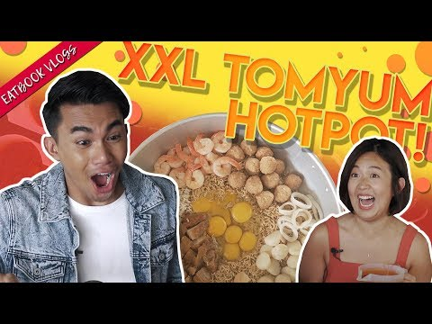 XXL TOM YUM SEAFOOD HOT POT (HALAL) | Eatbook Vlogs | EP 93