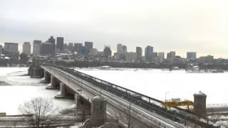 Full Day Time-Lapse Over Longfellow Bridge - Feb 07, 2015