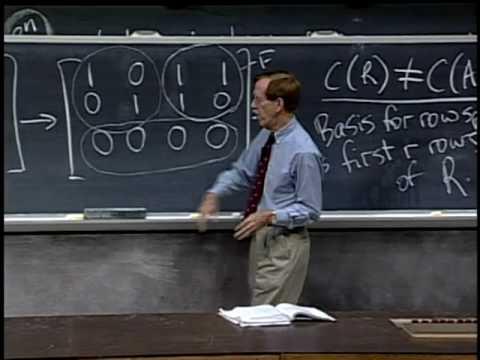 Lec 10 | MIT 18.06 Linear Algebra, Spring 2005