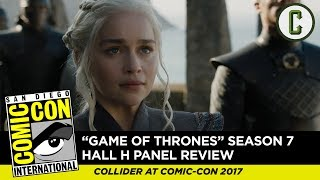 """Ken Napzok and Dennis Tzeng from Collider Thrones Talk discuss the new """"Game of Thrones"""" footage screened at Hall H of San..."""
