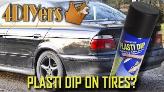 This has been a common question and to be honest I was curious myself too. What happens if you leave the plasti dip on the tires instead of pealing it off. So I released a video on how to plasti dip your wheels back in 2014, but the video footage was prepared about a month before that. I did leave the coating on the backside of one tire just out of curiosity, wondering if it would actually peal up on it's own or flake off eventually. For the first year I never noticed any pealing really, I applied about 5000km or 3000 miles on in the first winter. The second winter driving, when I changed over to my summer wheels I started to notice very light pealing. And now after the third winter driving, this is what the current coating looks like on the tire's sidewall. This was from about 10,000km or 6000 miles of driving in the winter. As you can see it definitely doesn't look too nice and it seems to come off quite easily. This is most likely from the flex in the sidewall which eventually breaks the bond between the two materials. Website: http://4diyers.comPatreon: https://www.patreon.com/4diyersFacebook: https://www.facebook.com/4diyersGoogle Plus: https://plus.google.com/+4DIYersTwitter: https://twitter.com/4DIYersInstagram: https://www.instagram.com/4diyers/Tumblr: http://4diyers.tumblr.comPintrest: https://www.pinterest.com/4diyers/Tools/Supplies Needed:-Procedure:-Thank you to all those who watch my videos and support my content. Don't forget to subscribe to my channel for future tutorial videos and like my video if you found it helpful. New videos are always being uploaded every week!© 4DIYers 2013All Rights ReservedNo part of this video or any of its contents may be reproduced, copied, modified or adapted, without the prior written consent of the author.