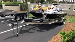 8. Magic Tilt Trailer Review - double jet ski trailer