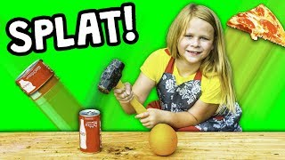 FOOD SMASH Learn Healthy Foods with Assistant with Paw Patrol Yogurt and Candy and Toys