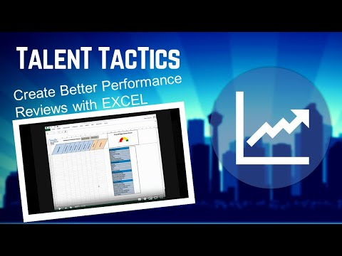 How to create a performance review using excel