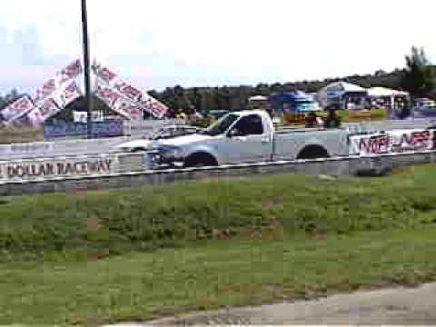 Ford F150 with 150-shot Nitrous blows away Honda CRX at NOPI Nationals
