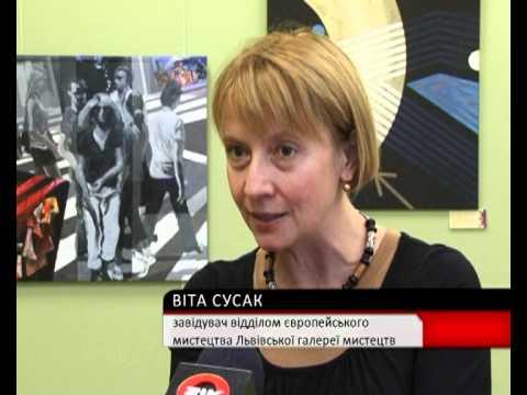 Donazione quadri di artisti italiani per la Galleria d`Arte di Lviv - 18 settembre 2012