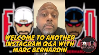Welcome to Another Instagram Q&A with Marc Bernardin