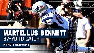 Tom Brady Hits Martellus Bennett for a 37-Yard TD! | Patriots vs. Browns | NFL by NFL