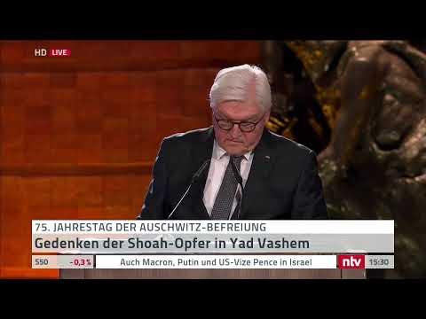 Live 75 Jahre Auschwitz-Befreiung - BundesprГsident Steinmeier hГlt historische Rede in Israel