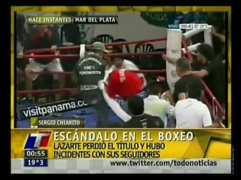 Batalla campal al finalizar una pelea de boxeo
