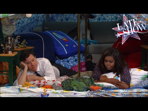 Stephen Colbert and Michelle Obama Built a Blanket