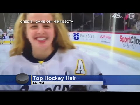 Breck Junior Wins State High School Hockey Hair Team Honors (видео)