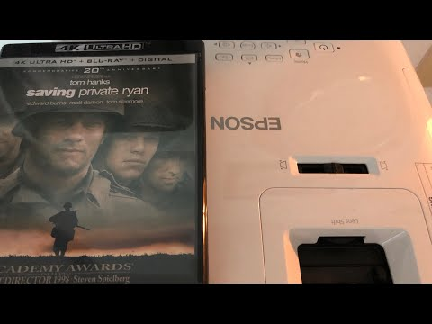 Saving Private Ryan 4K Bluray : EPSON Home Cinema 2150 Projector Test