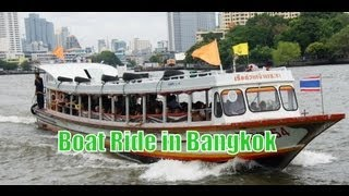 Cruising Down The Chao Phraya River By Boat Trip And Ferry Ride - Bangkok, Thailand