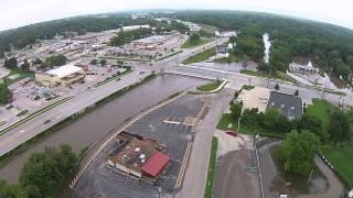 West Des Moines (IA) United States  city photo : Drone Video West Des Moines Flood 2015