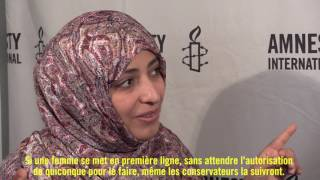 Tawakkol Karman calls for a sustainable peace in Yemen