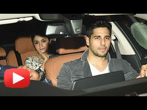 Alia Bhatt And Sidharth Malhotra At Karan Johar's